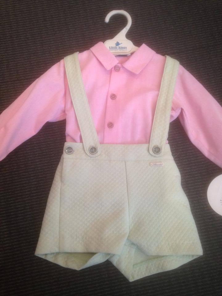Boys Miranda Lime and Pink Set