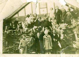 Welby Lane Mission Hall sandbagged in the war years