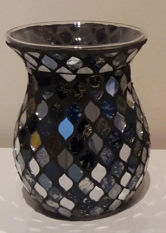Black Mosaic Tealight Wax Melter