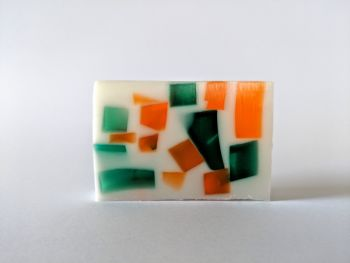 Lime, Basil and Mandarin Soap Slice