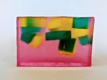 Pear and Freesia Soap Slice