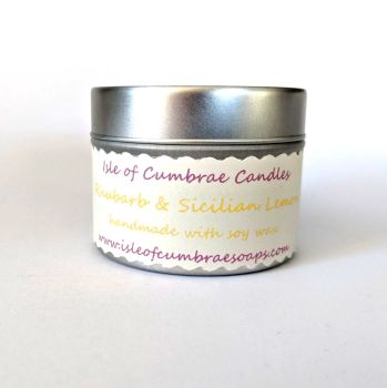 Rhubarb and Sicilian Lemon Soy Candle