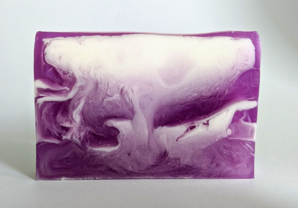Purple Rain Soap Slice