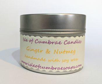 Ginger & Nutmeg Soy Candle