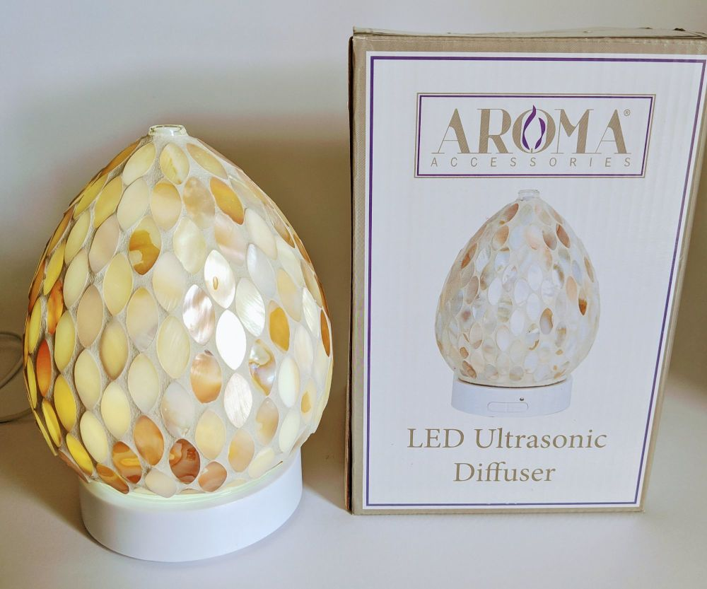 Mother of pearl mosaic ultrasonic diffuser