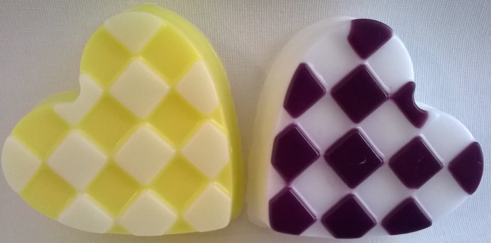 Chequered Love Heart Soap
