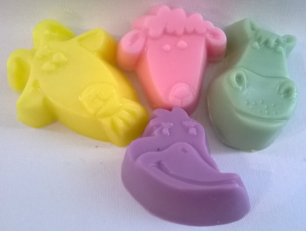 Children's Pack of 4 Farmyard Animal Soaps
