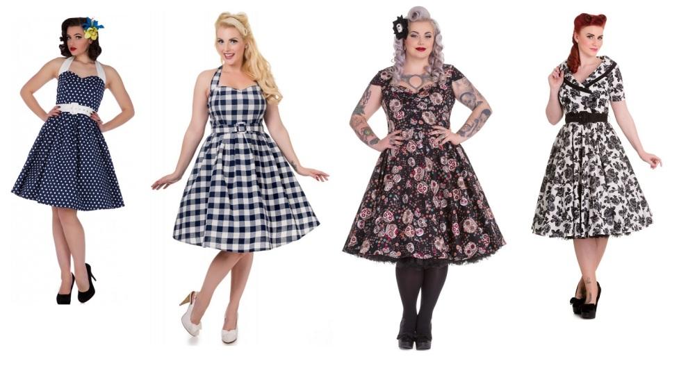 Full 50\'s skirt swing dresses