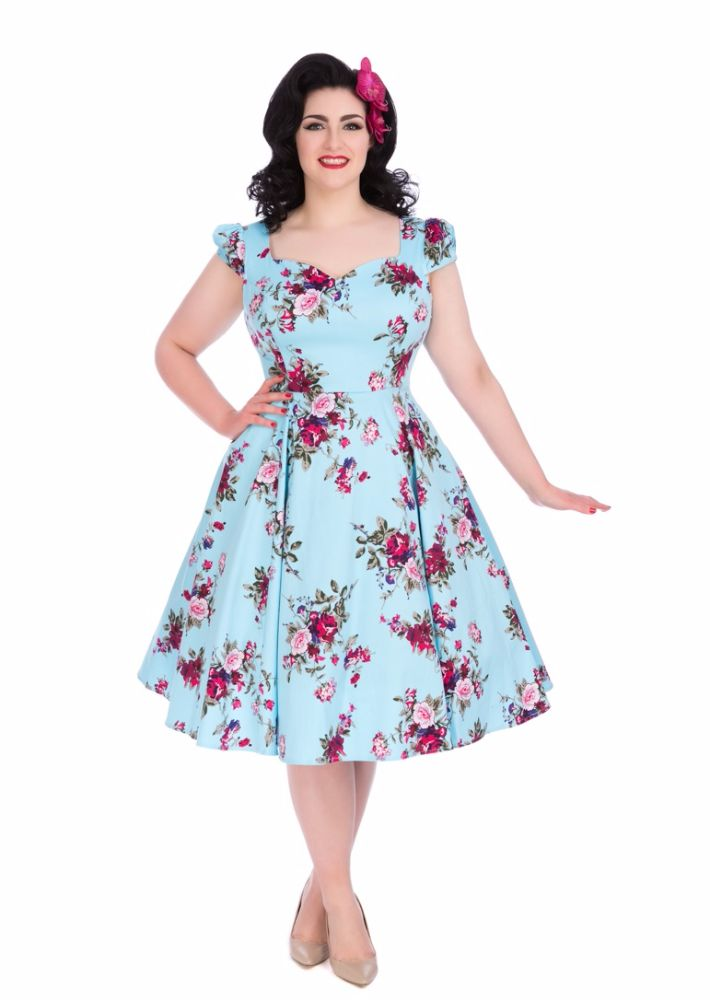 Plus size vintage 50 39 s rockabilly swing dresses for Plus size wedding dresses size 32 and up