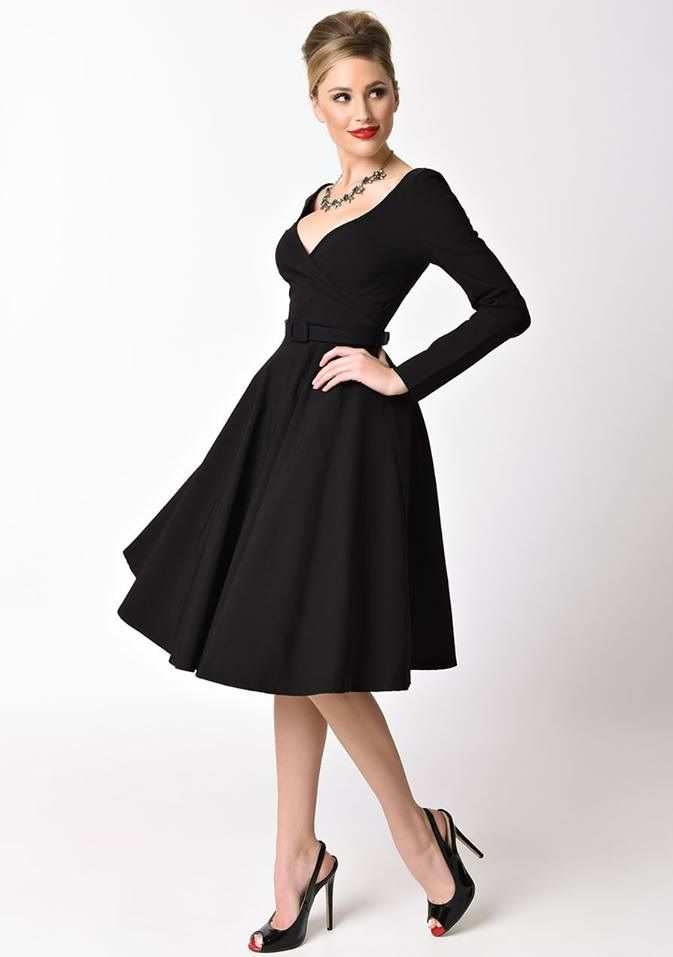 50's style full skirt dresses