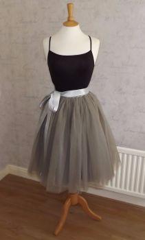 b8d891e54400 Dusty grey 5 layer Tutu tulle skirt 25