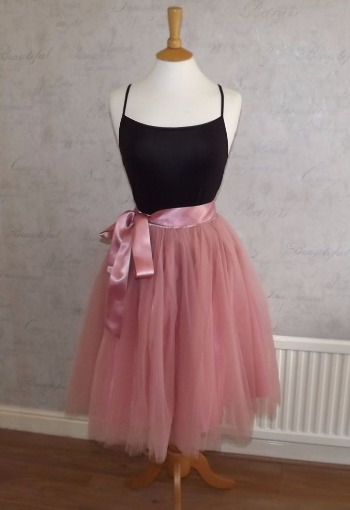 Soft pink 5 layer Tutu tulle skirt 25