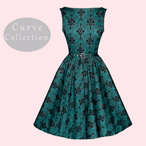 green 50s dress