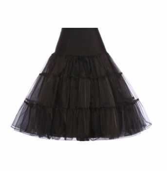 "Black 25"" underskirt/pettiocoat"