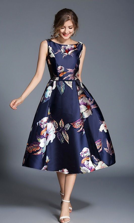 Dixie structured floral occasion dress