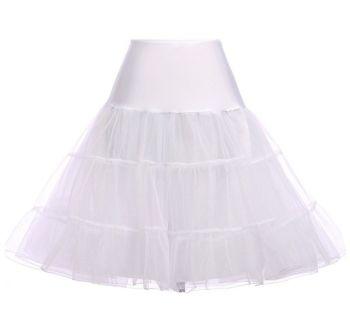 "White 25"" underskirt/pettiocoat"