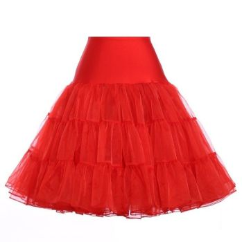 "Red 25"" underskirt/pettiocoat Size 8-16"