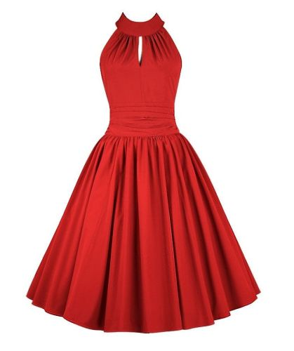 Jasmine red swing dress