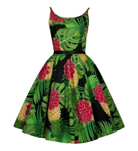 Delilah tropical print swing dress