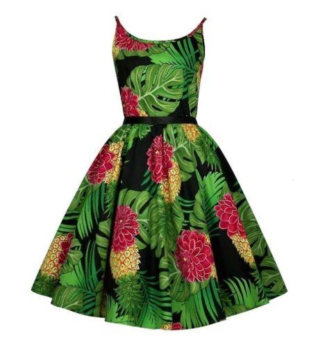 Delilah tropical print swing dress