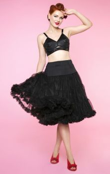"Black 26"" luxury fluffy petticoat Size 8-22"