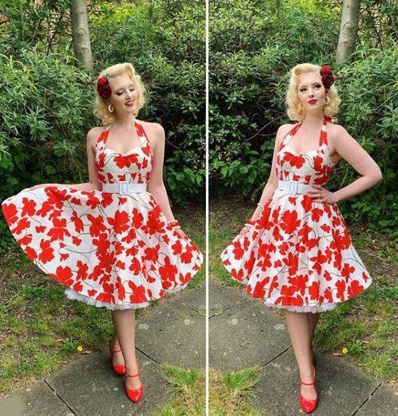 Hope halterneck swing dress