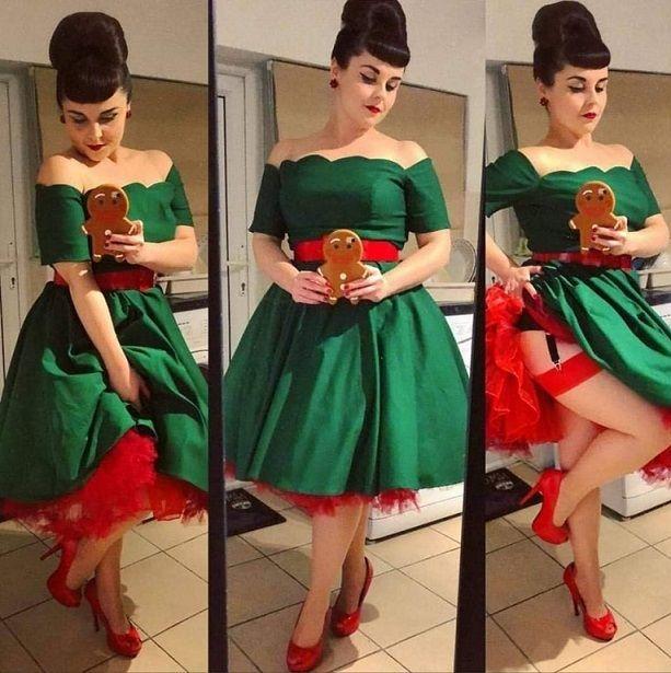 Green Liana swing dress