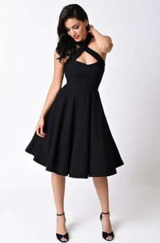 Collectif black penny swing dress