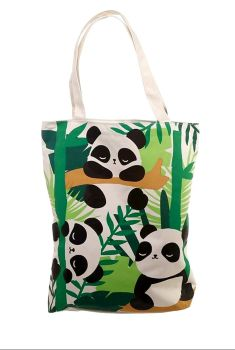 Large Panda cotton bag