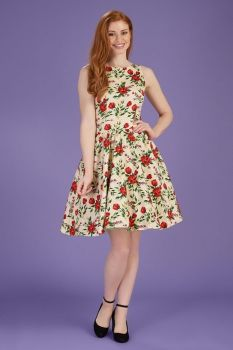 Lady vintage summer bloom tea dress