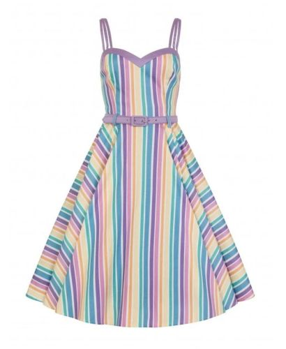 Collectif Nova rainbow swing dress