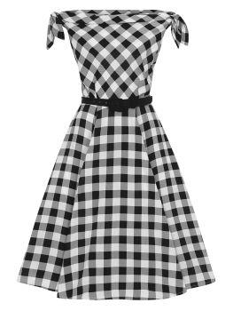 Collectif Giordana Gingham Swing Dress