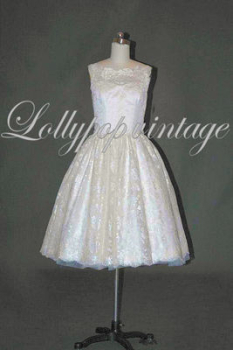 Lace vintage style Lizzy wedding dress in stock