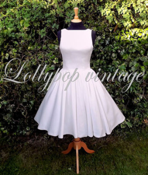 Vintage style Audery wedding dress in stock