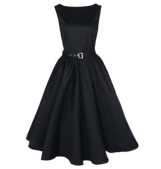 Vintage black Audrey style dress. Available up to size 30