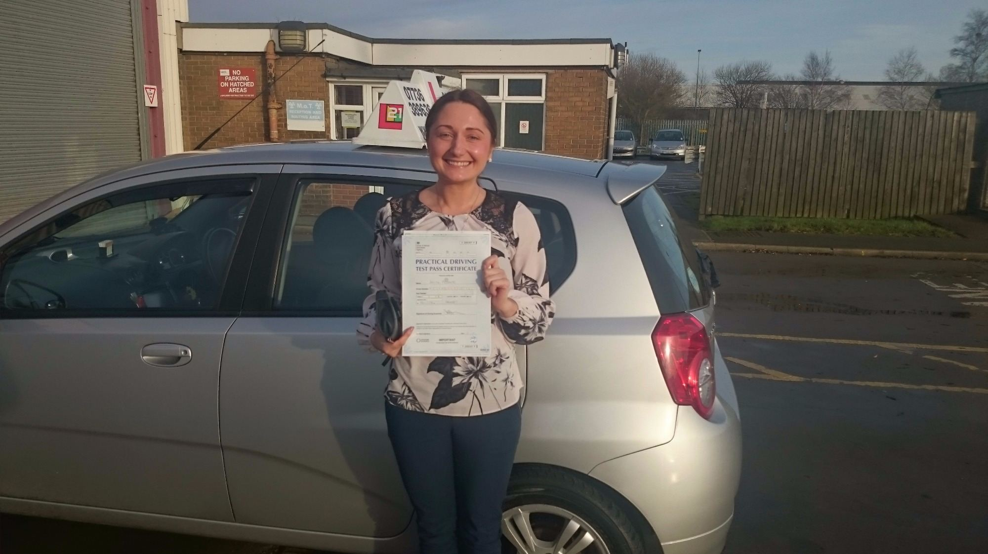 Jolita Meskaite took her driving lessons and passes her test in Grimsby with 21st Century Driving