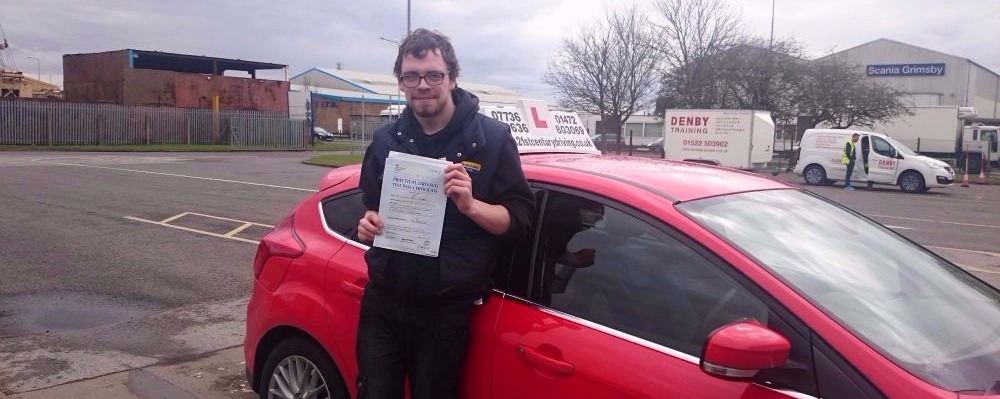 Connor Deery took his driving lessons and passes his test in Grimsby with 21st Century Driving