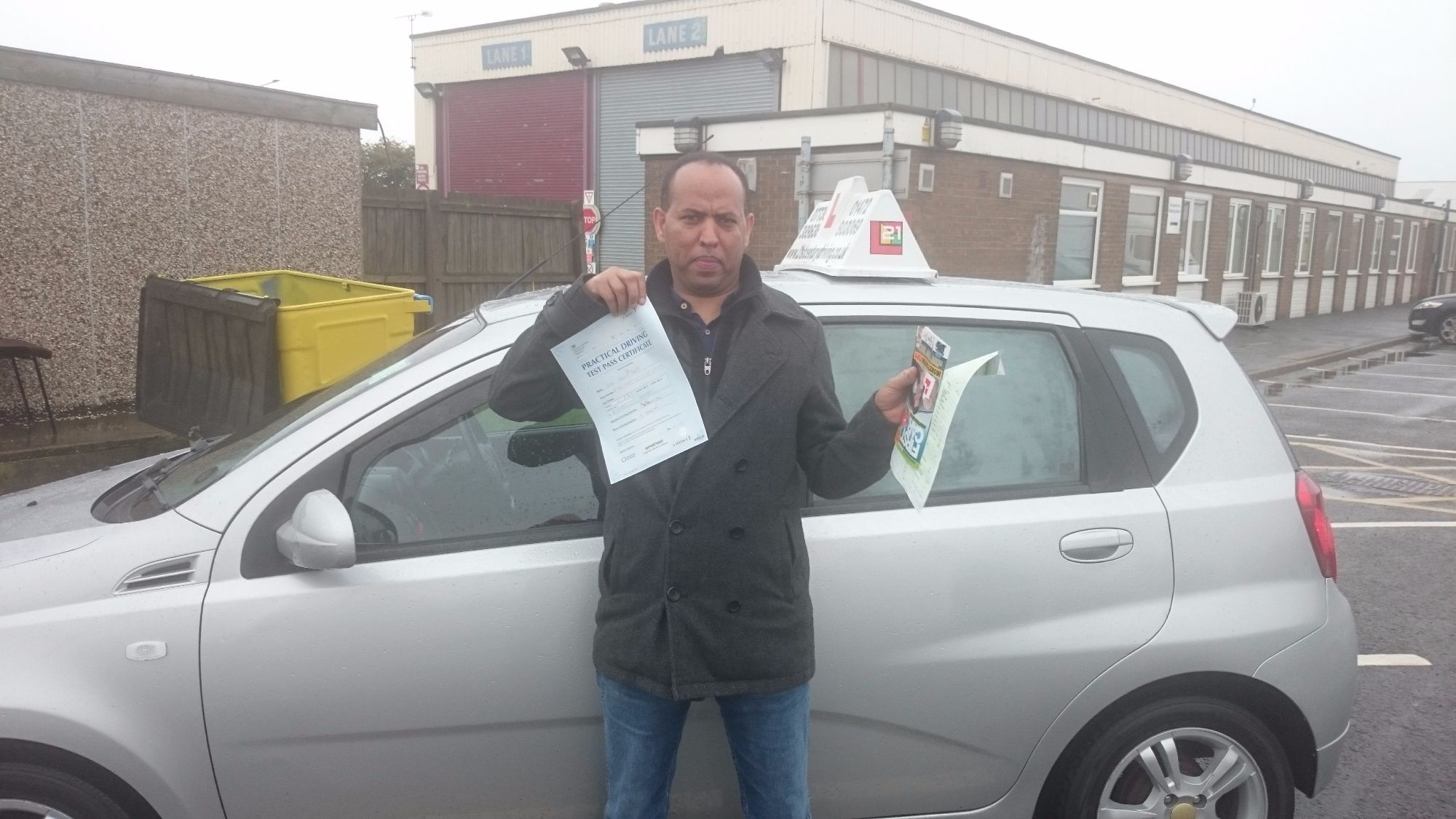 Dr Luel Abay took his driving lessons and passes his test in Grimsby with 21st Century Driving