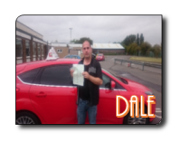 Dale passes his driving test in Grimsby after taking his lessons with 21st Century Driving