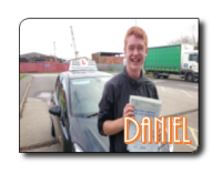 Daniel passes his driving test in Grimsby after taking his lessons with 21st Century Driving
