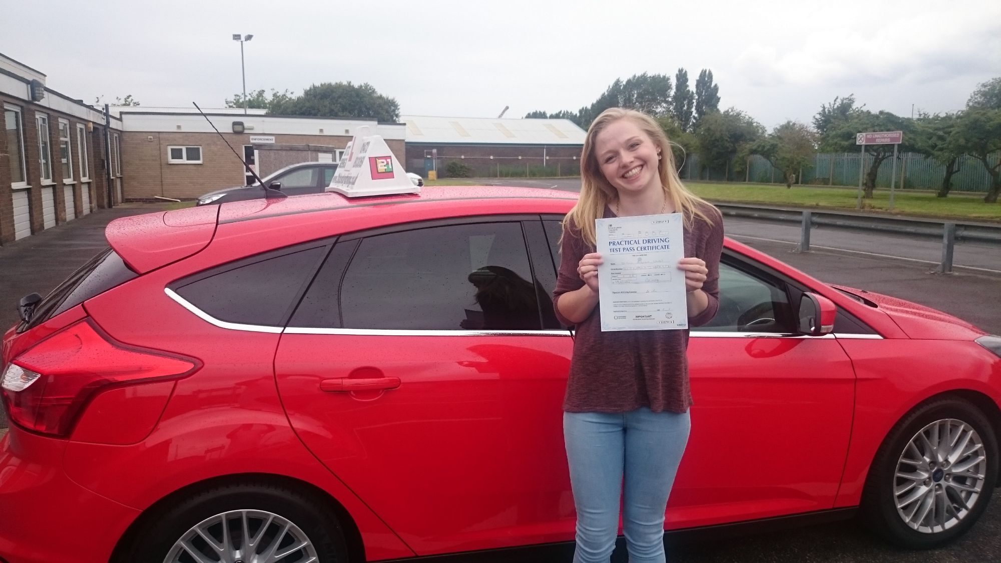 Abi passed her driving test after taking her driving lessons in Grimsby with www.21stcenturydriving.co.uk