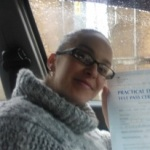 sara taylor took her driving lessons and passed her test in grimsby