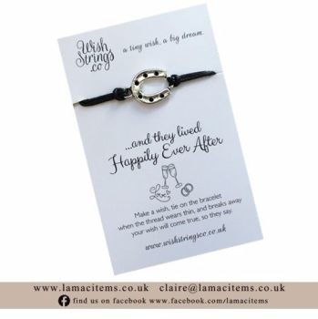 Wedding Horseshoe WishString Wish Bracelet
