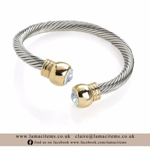 Two Tone Twist Bangle