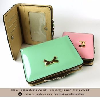Mint Green Patent Bow Purse