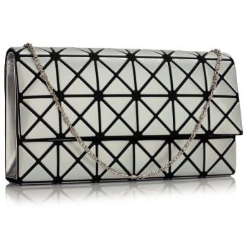 Matt Silver Clutch Bag
