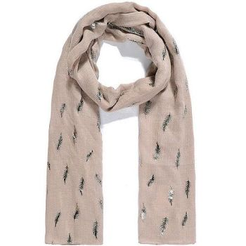 Tara Feather Scarf - Beige