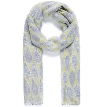 Adrianna Leaf Scarf - Lemon
