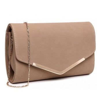 Nude Envelope Clutch Bag