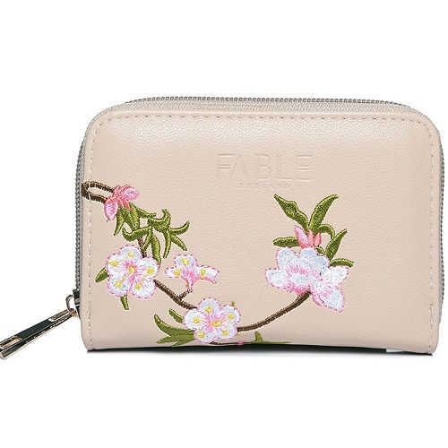 Nude Blossom Embroidered Purse
